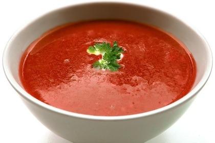 濃厚なトマトスープ