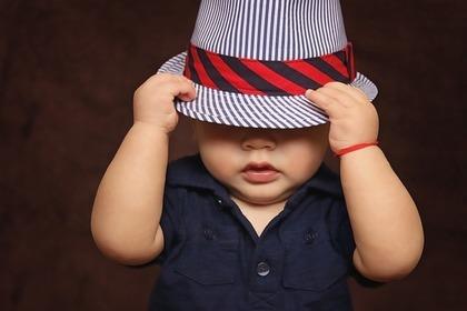 帽子もリラックス