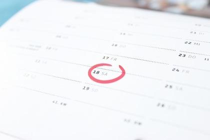 カレンダーの印