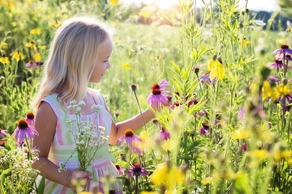 花をつむ子供