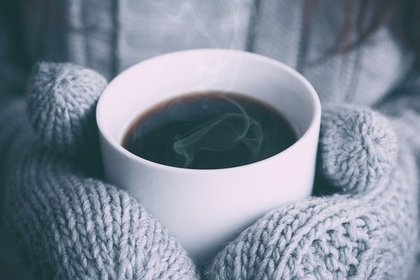熱々のホットコーヒー