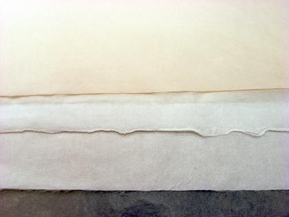 数種類の和紙