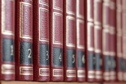 綺麗に並べられた本