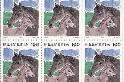 馬柄の切手
