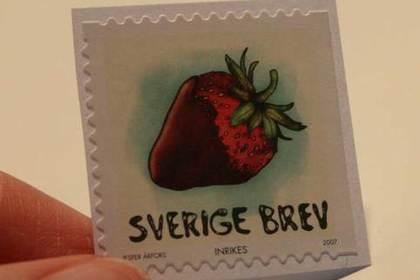 いちごの切手