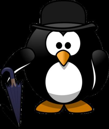 紳士モチーフのペンギンキャラ