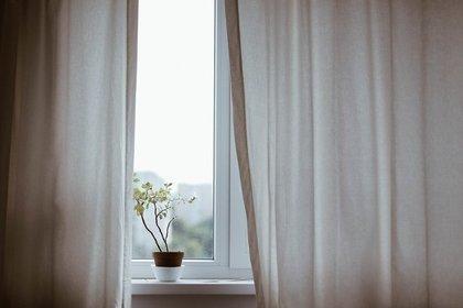 カーテンが開いた窓