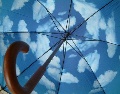 傘に移る空