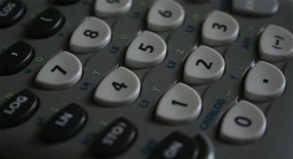 電卓のボタン
