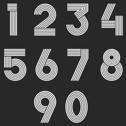 1から0までの数字