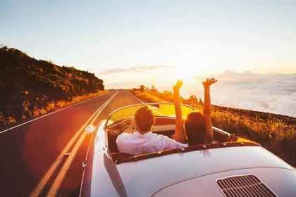 夕陽とドライブ