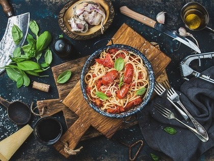 パスタ料理の画像