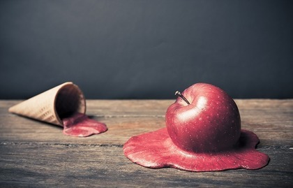 アイスとりんご