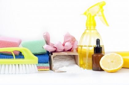 手袋やブラシ・スプレーなどの掃除道具