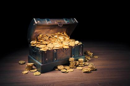 宝箱とコイン