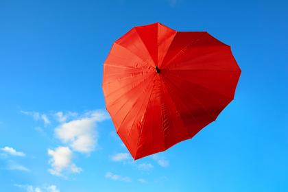 ハート型の傘