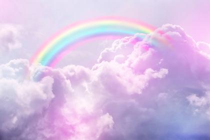 色鮮やかな虹