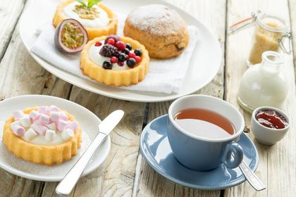 洋菓子と紅茶