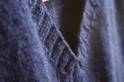重ね着セーター