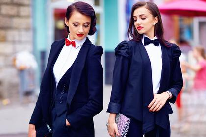 ブランドスーツの女性