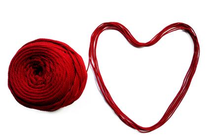 ハートの毛糸