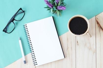 コーヒーと筆記具