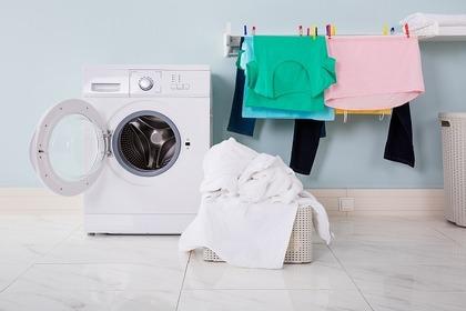 乱れた洗濯物