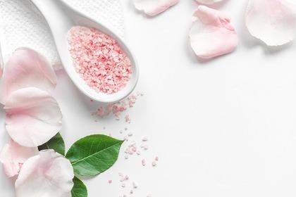 ピンクのビーズ