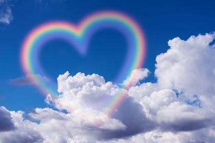 虹のハート