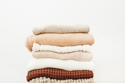 重なるタオル
