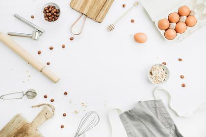 シンプルデザインの調理道具